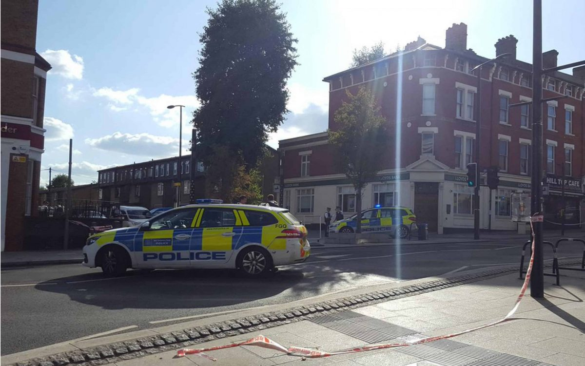 Police crime scene in Sydenham Road, south-east London (Andrew Chang/PA)