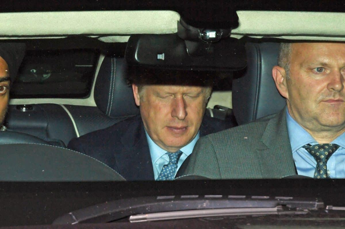 Boris Johnson in car