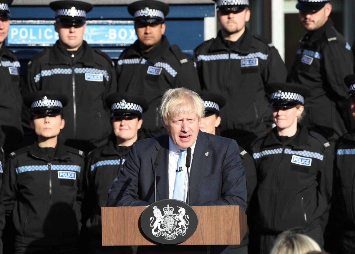 Boris Johnson speech police