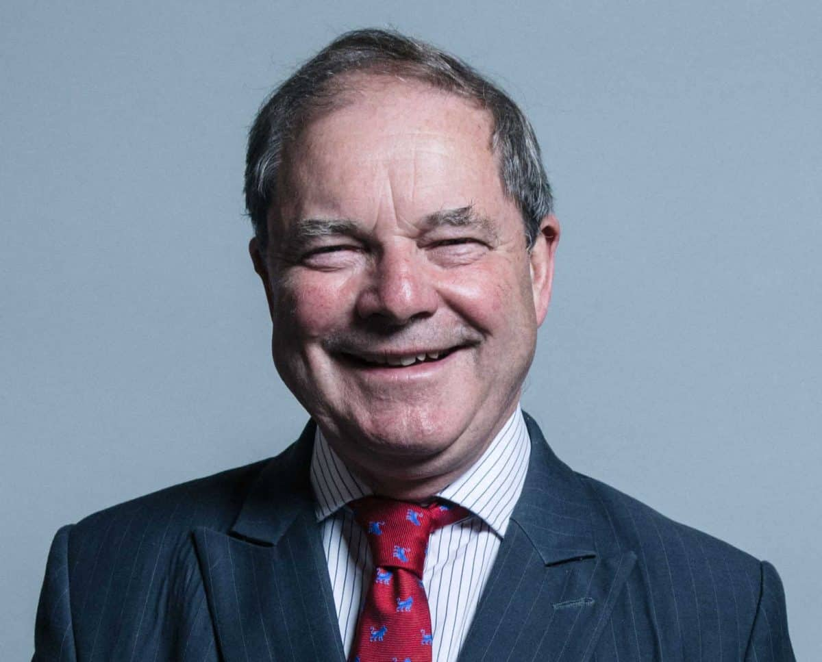 """Undated official UK Parliament file photograph of Sir Geoffrey Clifton-Brown MP. There was a """"small misunderstanding"""" at the Conservative Party Conference today when an attendee, believed to be Sir Geoffrey Clifton-Brown, MP for The Cotswolds, tried to enter the International Lounge at the Manchester Convention Centre without the relevant pass, triggering a lockdown."""