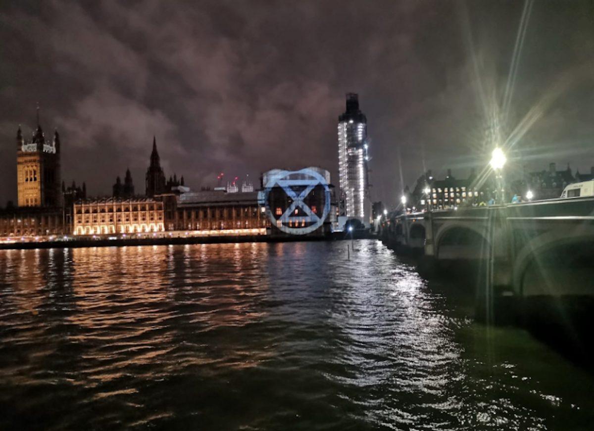 Westminster blockade by Extinction Rebellion (c) Twitter/Kingston-upon-Thames Extinction Rebellion)