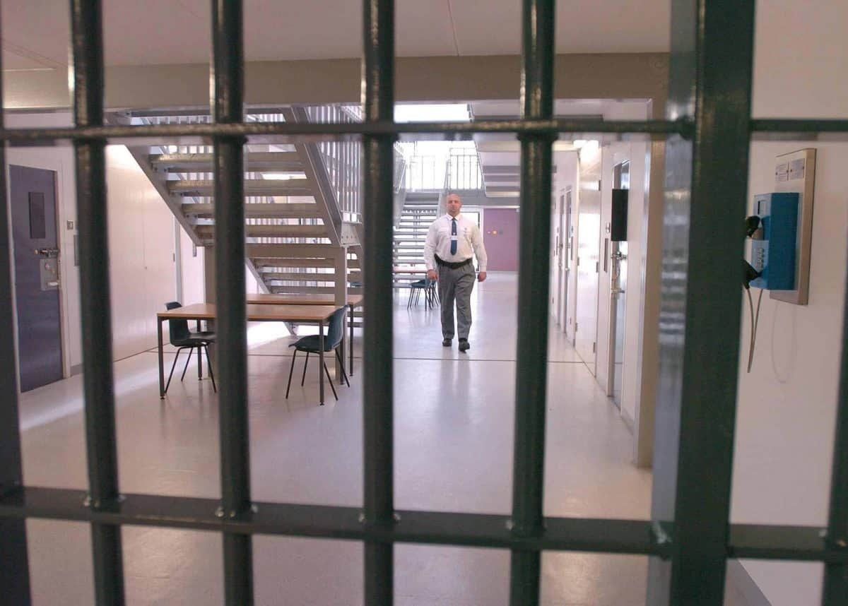 Picture shows a.cell block in the new HMP Bronzefield (womens prison)in Ashford Middx. CreditPA