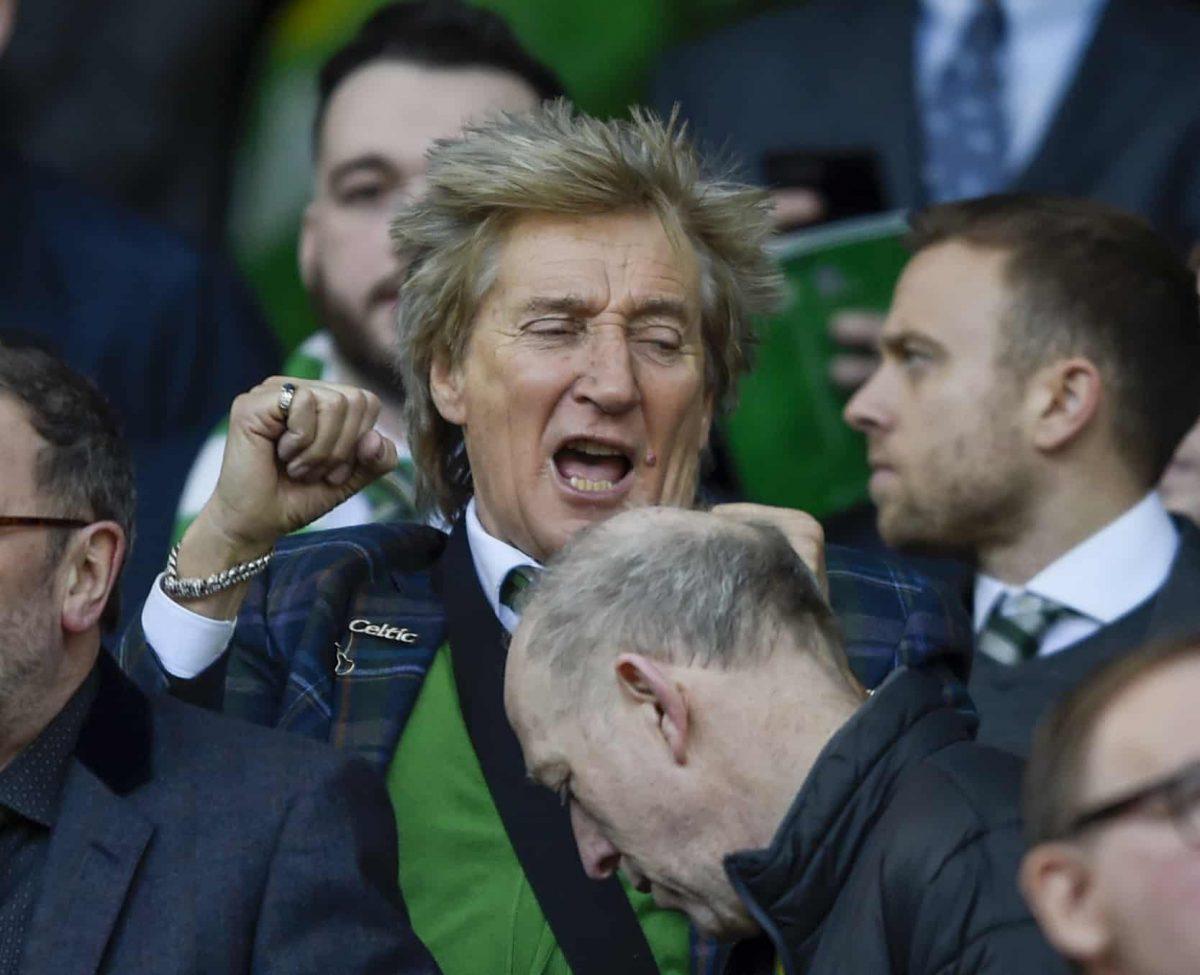 Sir Rod Stewart during the Ladbrokes Scottish Premiership match at Celtic Park, Glasgow.