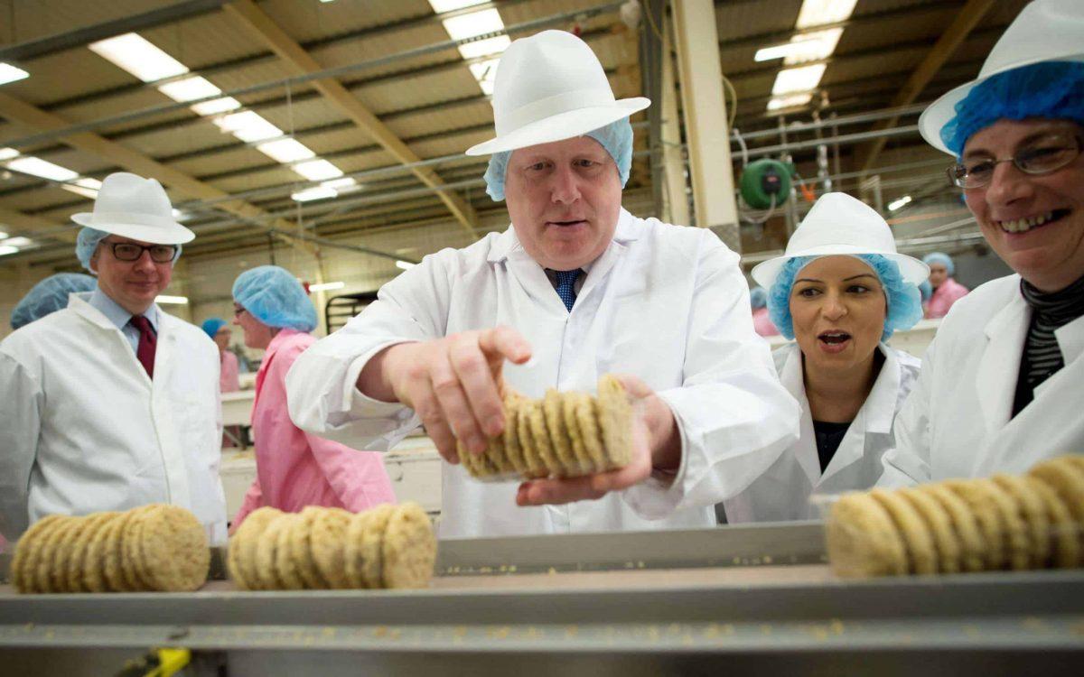 Boris Johnson, Priti Patel & Michael Gove make biscuits (PA)