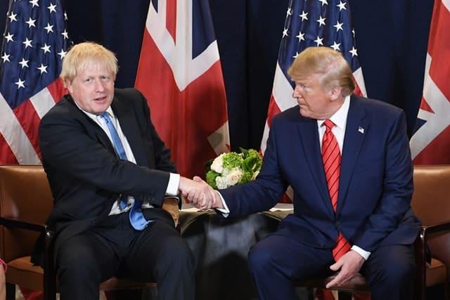 Boris Johnson and Donald Trump (PA)