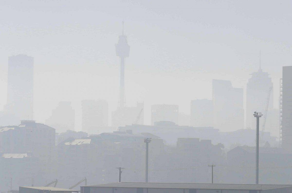 Smoke haze covers Sydney as wildfires burn near the city (Rick Rycroft/AP)