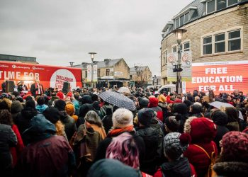Crowds gather to see Corbyn in Pendle