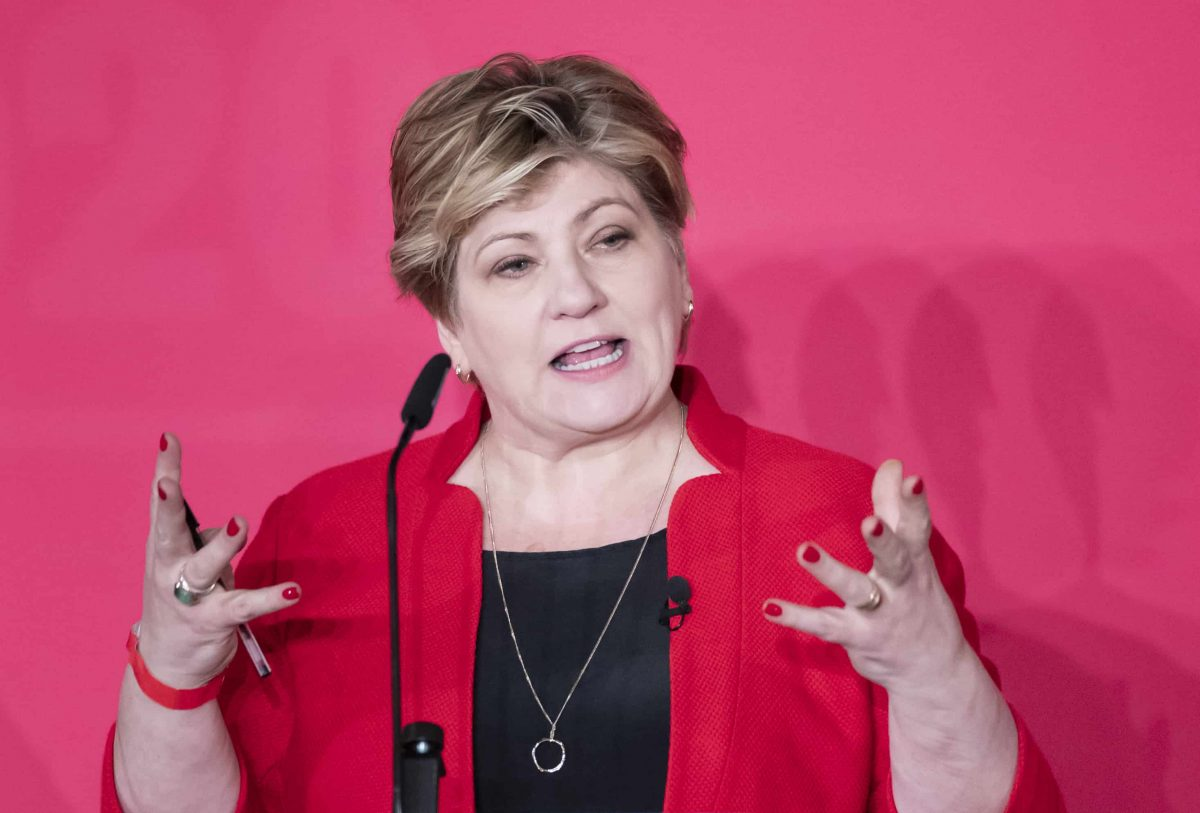 Emily Thornberry during the Labour leadership husting at the ACC Liverpool.Credit;PA