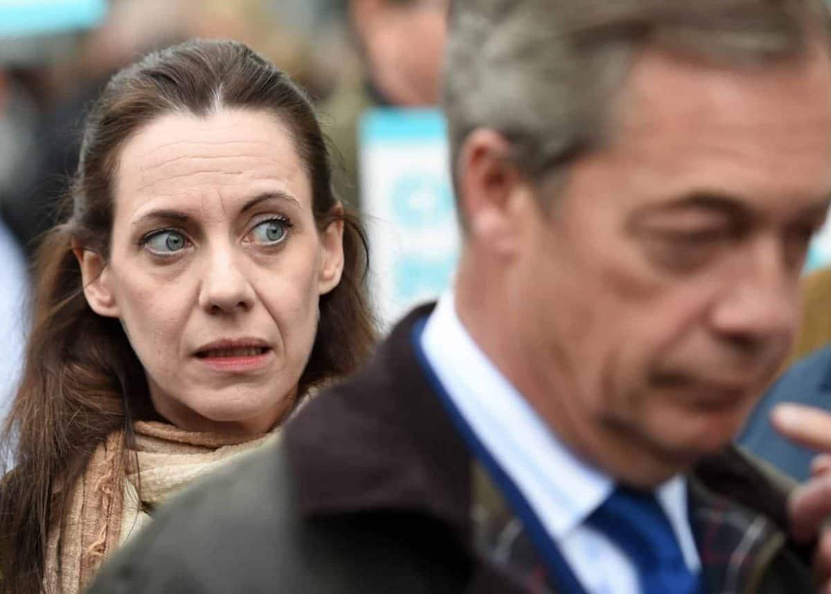 Annunziata Rees-Mogg and Nigel Farage (PA)