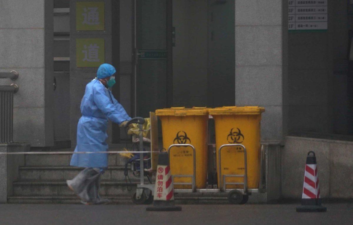 coronavirus hazchem Wuhan Medical Treatment Centre (AP Photo/Dake Kang)
