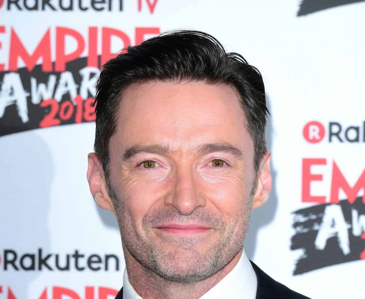 Hugh Jackman wins the award for Best Actor at the Rakuten TV Empire Film Awards at the Roundhouse in London.