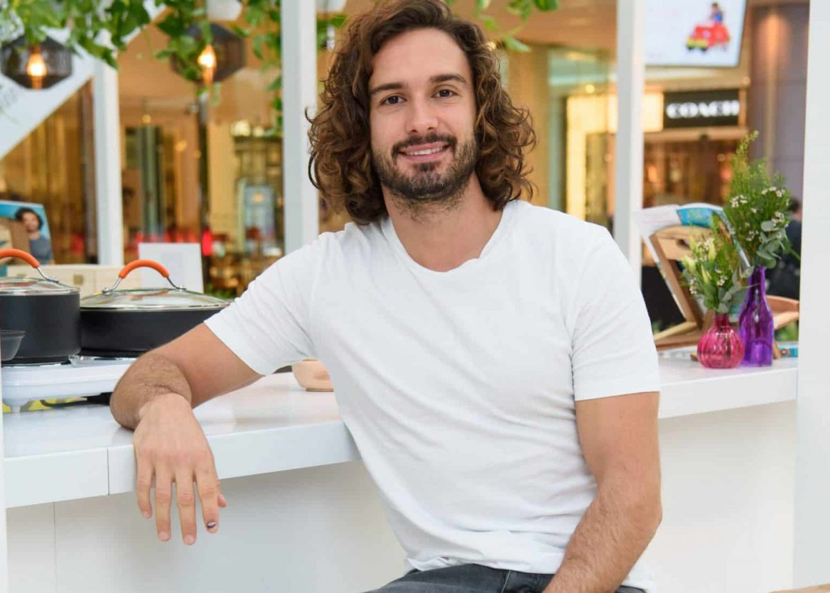 Joe Wicks unveiling the Lifestyle Lab pop-up, at Westfield shopping centre in London. The new wellness space features the Joe Wicks Cafe, the first dining destination from the Body Coach.