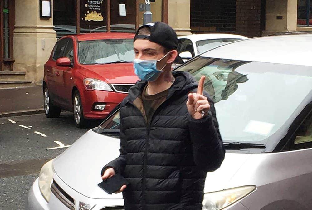 Matthew Wain arriving at Birmingham Magistrates Court.