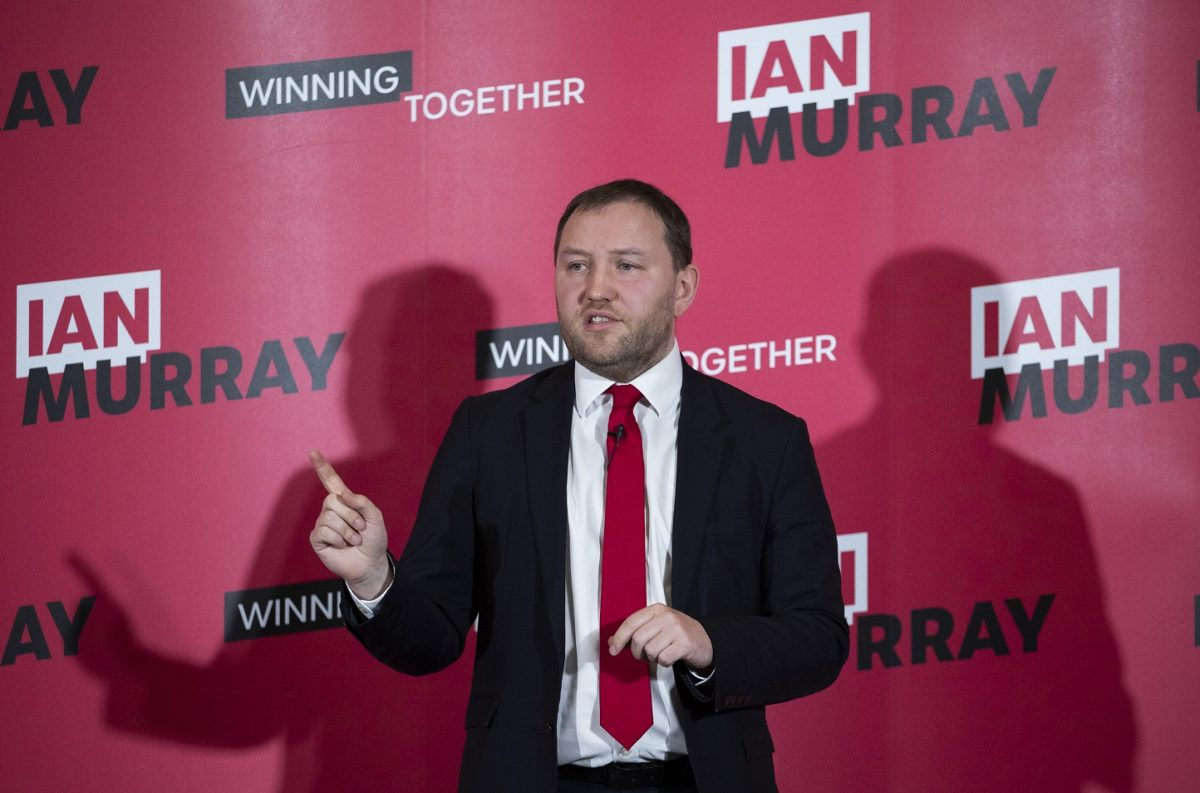 Ian Murray launches his campaign for Labour deputy leader at the Wester Hailes Education Centre in Edinburgh.