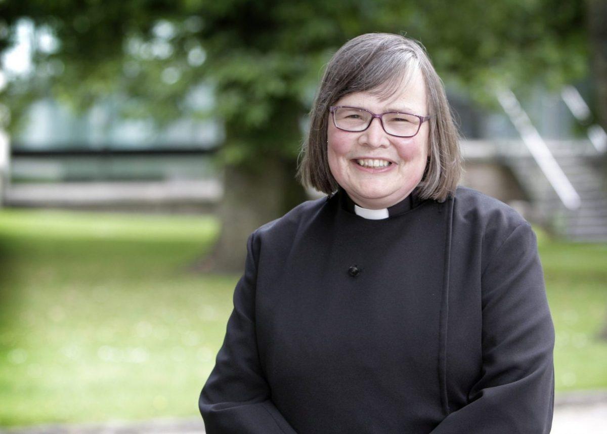 Palliative consultant Rev Dr Susan Salt, 54. Credit;SWNS