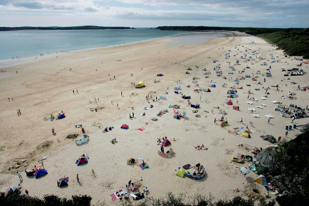 FILE PICTURE - The beach at Tenby, Pembrokeshire, Wales.  Credit;SWNS