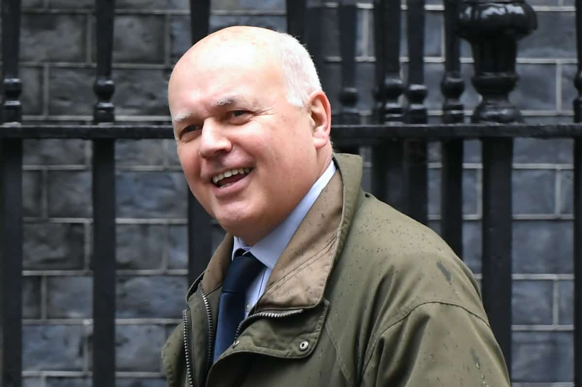 Iain Duncan Smith in Downing Street, London.Credit;PA