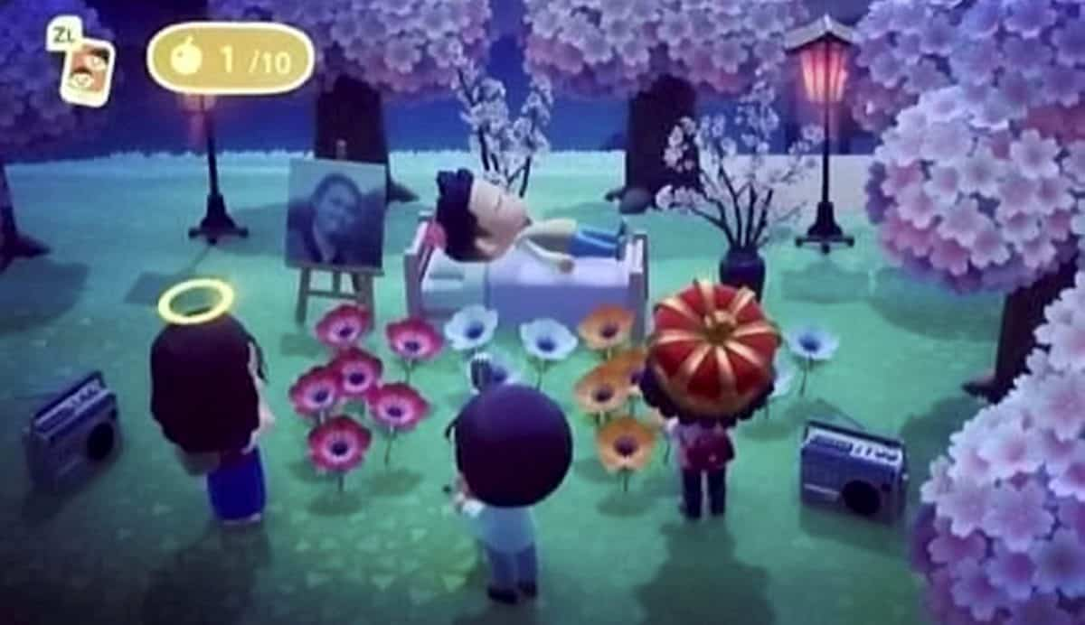 The Animal Crosssing Memorial to Branden Perez. Credit;SWNS