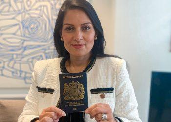 blue british passport priti patel