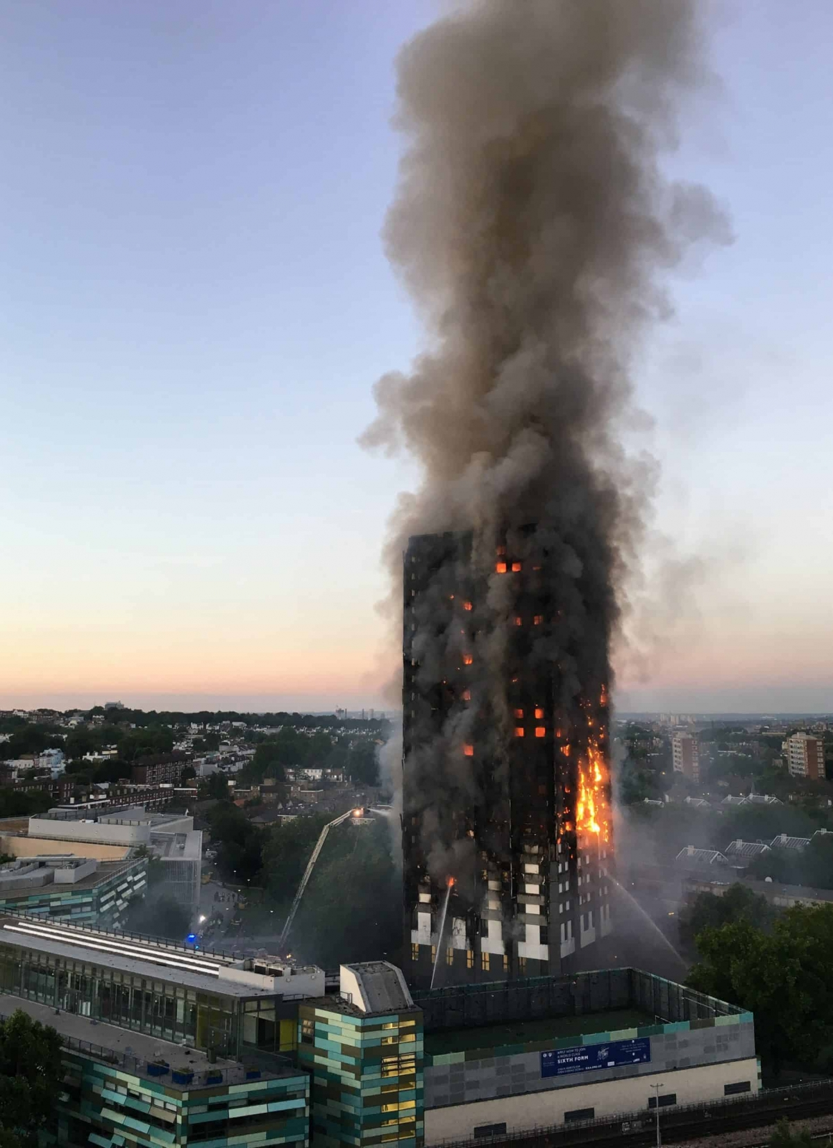 """File photo dated 14/06/17 of the fire at Grenfell Tower in west London. An """"expert witness"""" to the Grenfell Tower Inquiry has been dropped after the architects' watchdog said he was not registered."""