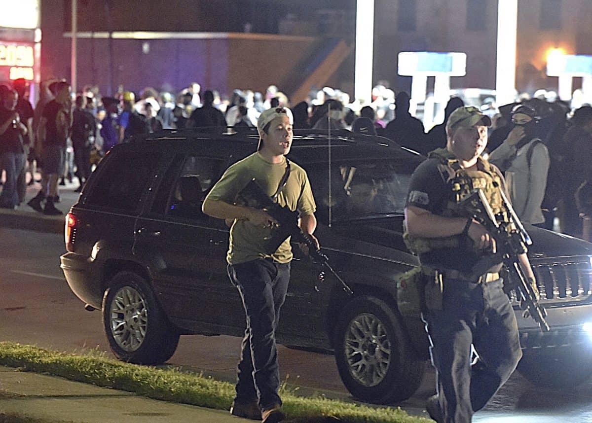 Kyle Rittenhouse, left  (Adam Rogan/The Journal Times via AP)