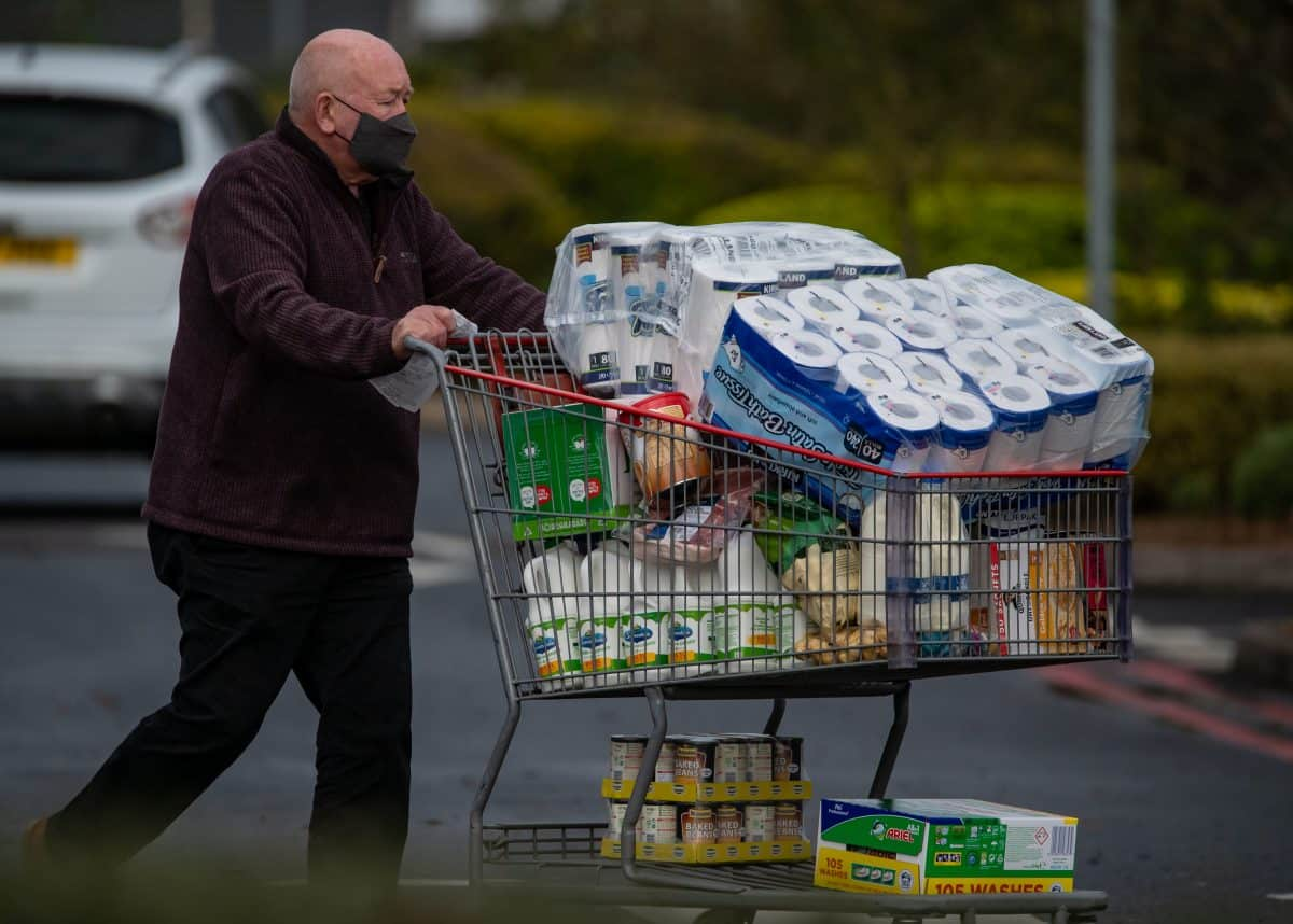 Shoppers at Costco, Birmingham,. Novermber 1 2020 Credit;SWNS