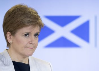 Scotland's First Minister Nicola Sturgeon holds a briefing on the coronavirus (COVID-19) outbreak at St Andrew's House, Edinburgh, after Prime Minister Boris Johnson has put the UK in lockdown to help curb the spread of the coronavirus.