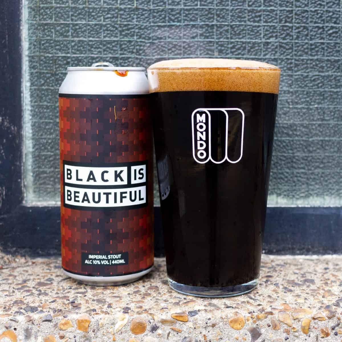 Mondo Brewing Black is Beautiful can
