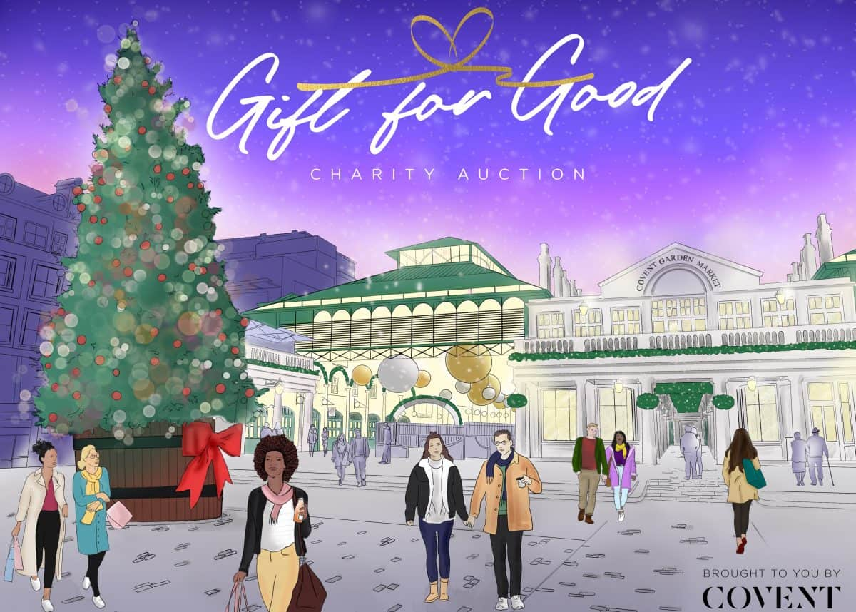 Covent Garden Gift For Good Charity Auction Only A Pavement Away
