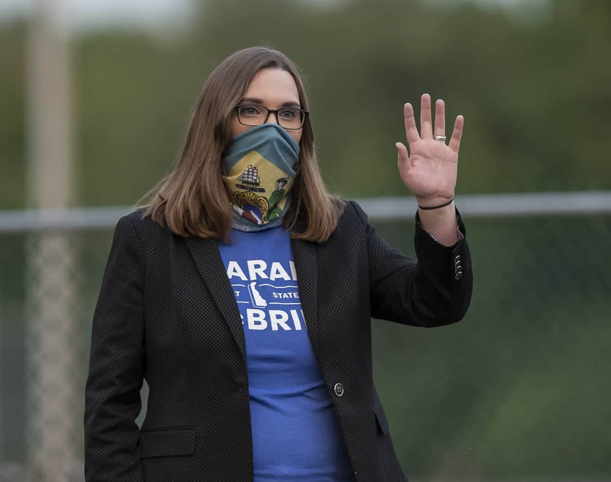 Transgender activist Sarah McBride (AP Photo/Jason Minto)