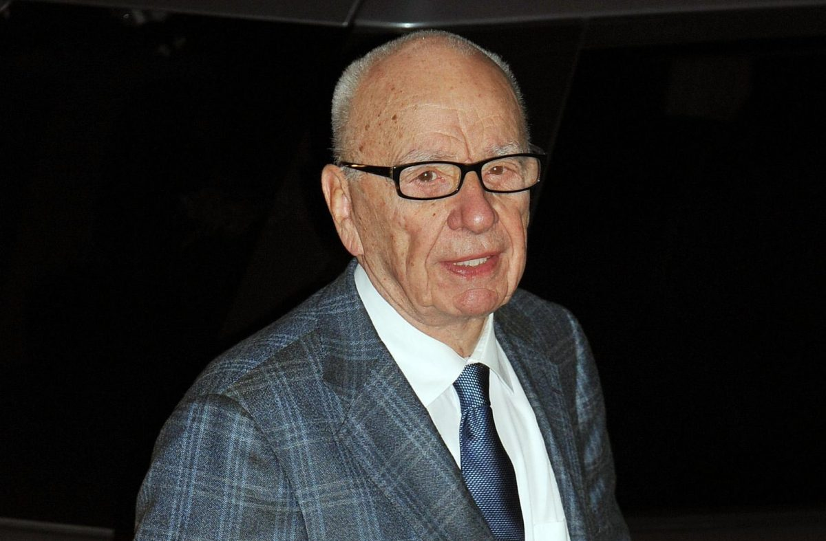 Rupert Murdoch arrives to see the first copies of the new Sun on Sunday newspaper roll off the presses at the News Printers, in Broxbourne Hertfordshire.