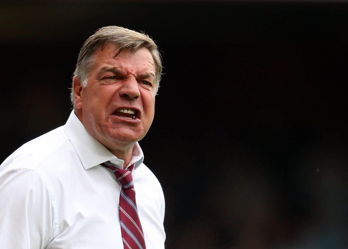 West Ham United Manager Sam Allardyce on the touchline during the Barclays Premier League match at Upton Park, London.