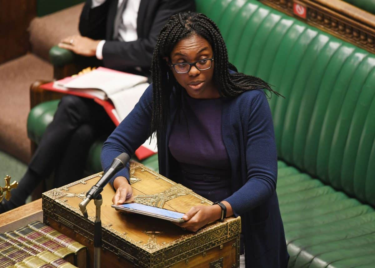 Kemi Badenoch answering a question in the House of Commons (UK Parliament/Jessica Taylor/PA)