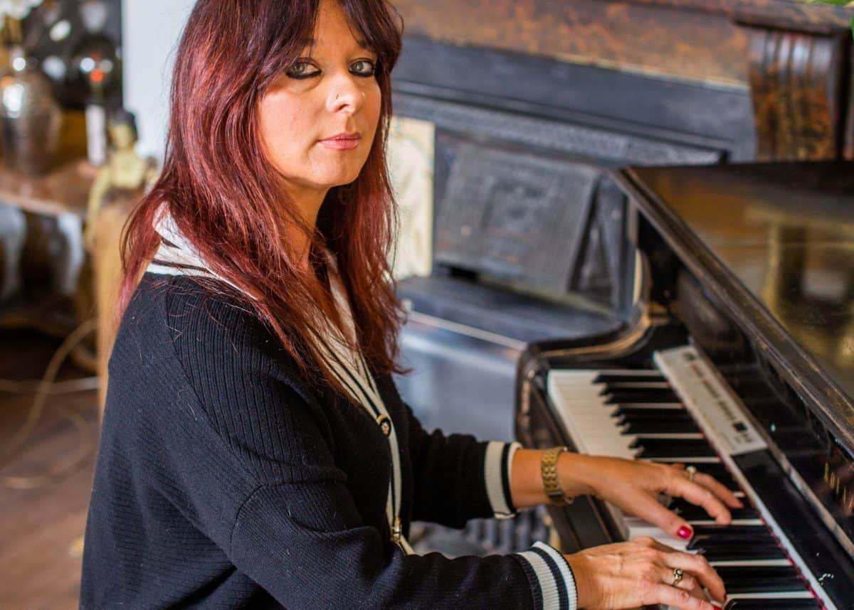 Cornish pianist Annabel Bennett at her home in St Merryn, February 15 2021. Credit SWNS