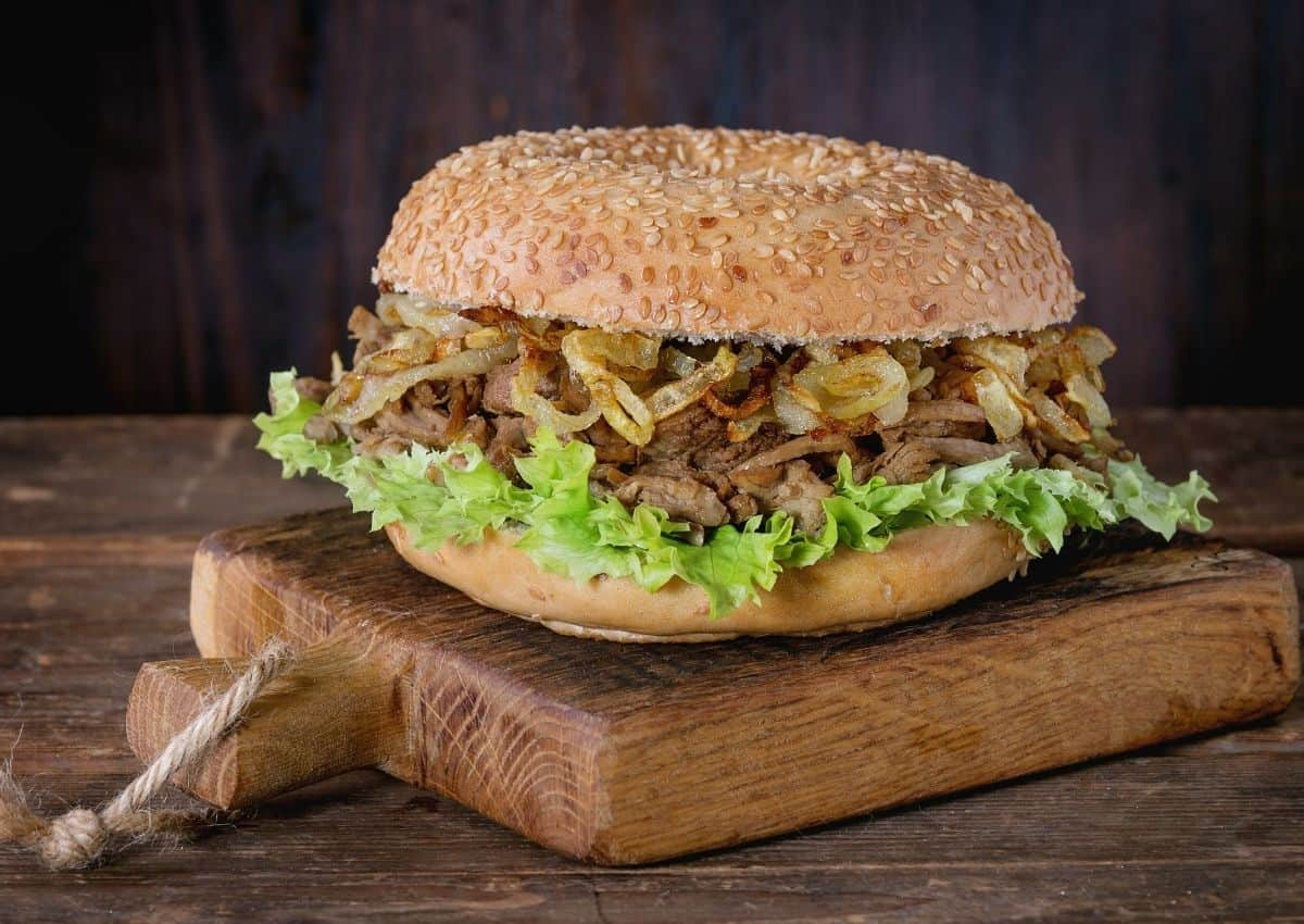 How To Make: Pulled Beef, Onion & Blue Cheese Sandwich