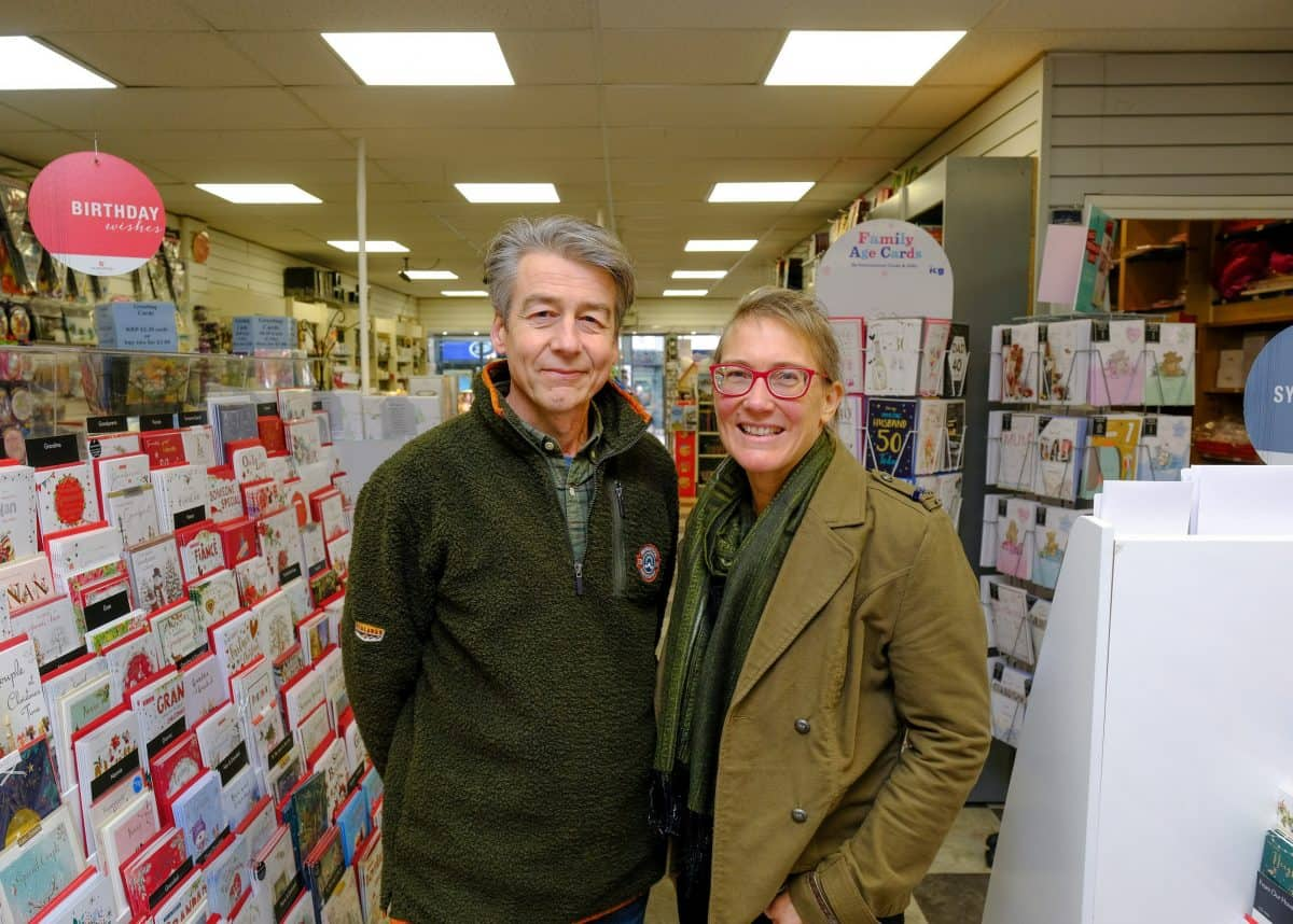 Defiant business owners Alasdair, 54, and wife Lydia Walker-Cox, 50. Credit;SWNS