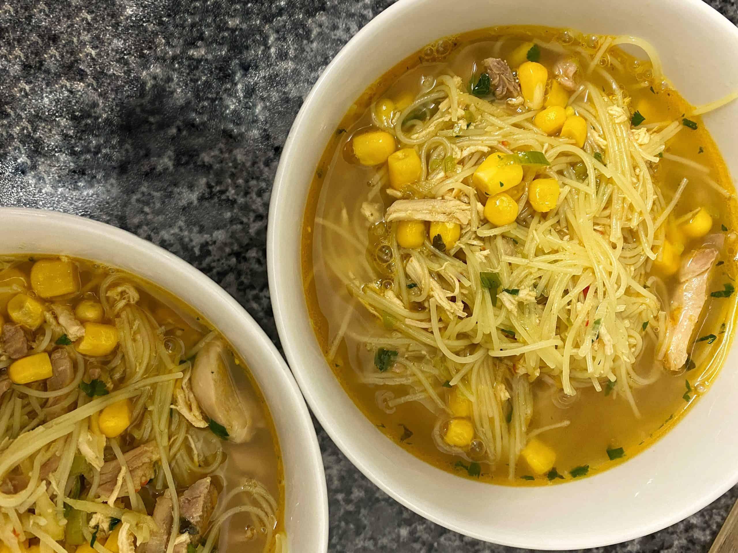 Chicken Noodle soup recipe bone broth stock