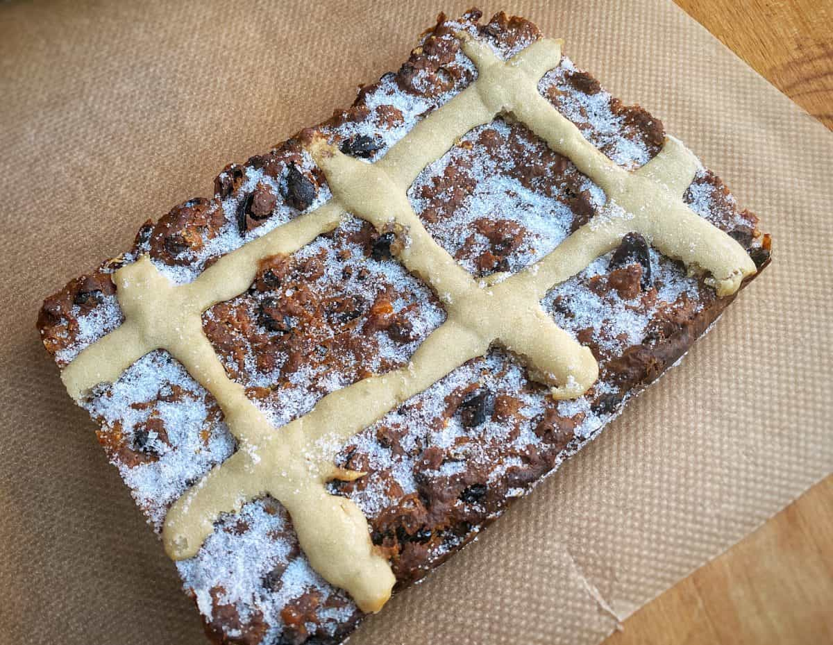 Hot cross bun bread pudding recipe jonathan hatchman