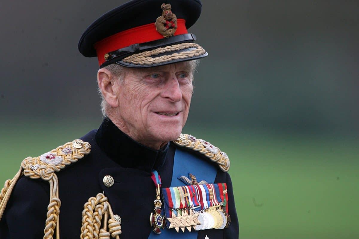 The Duke of Edinburgh arrives at the Sovereign's Parade at the Royal Military Academy Sandhurst