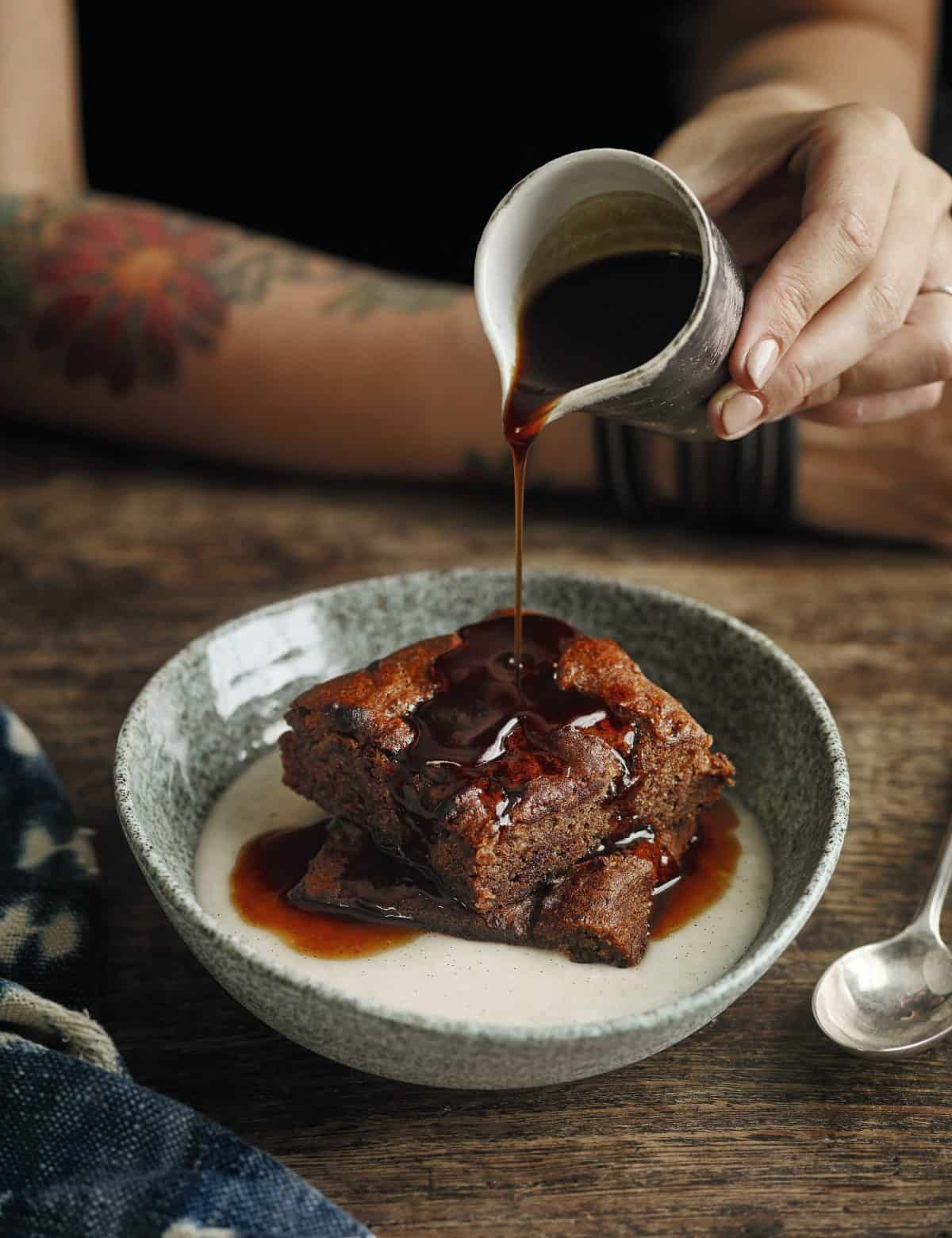 Sticky Toffee Pudding With Sticky Toffee Sauce