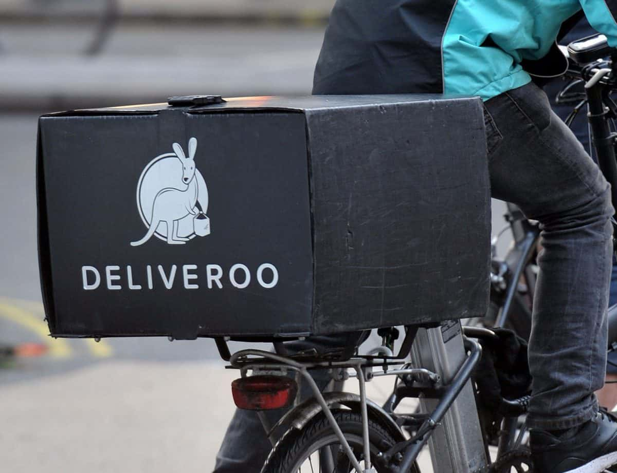 """File photo dated 06/01/16 of a Deliveroo cycle rider. Deliveroo riders are set to find out if their bid for the right to collective bargaining has been successful in the latest case involving the so-called """"gig economy""""."""