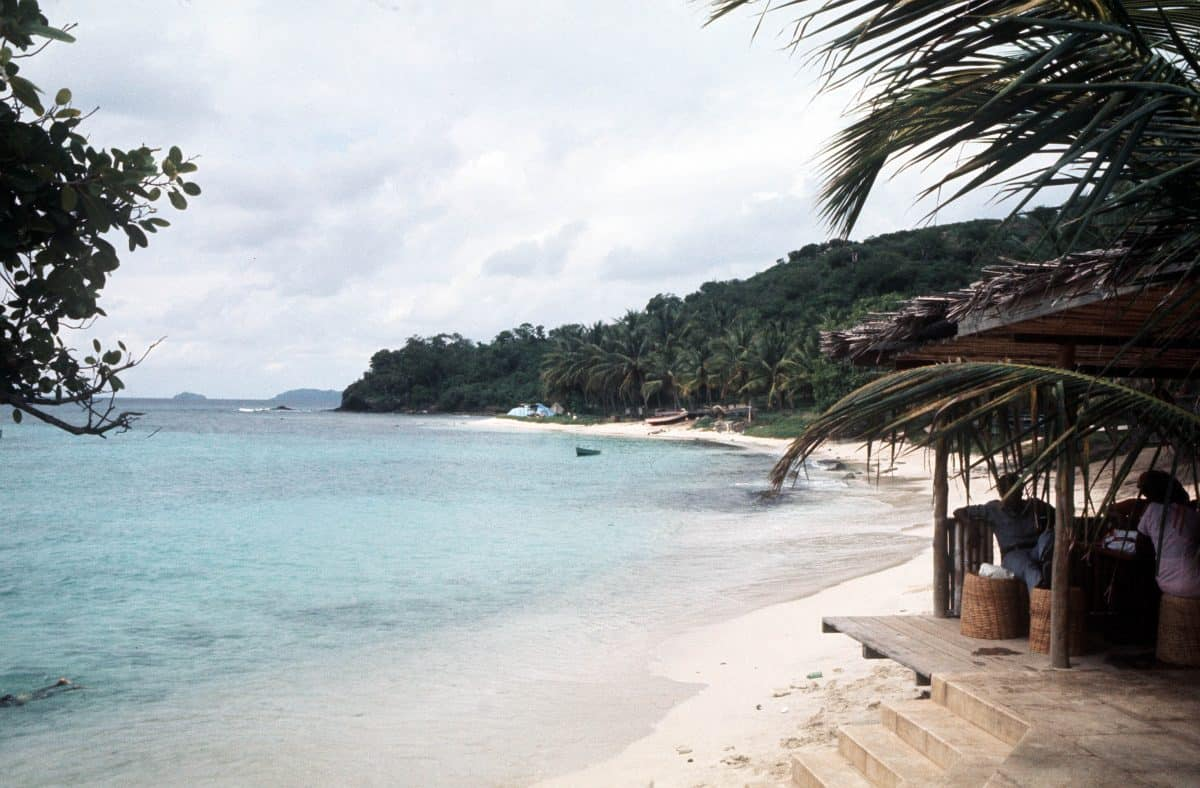A cloudy day on the beach at Mustique, Credit;PA