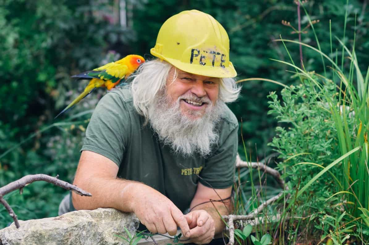 Peter Birchall, also known as Pete The Pond. Credit;SWNS