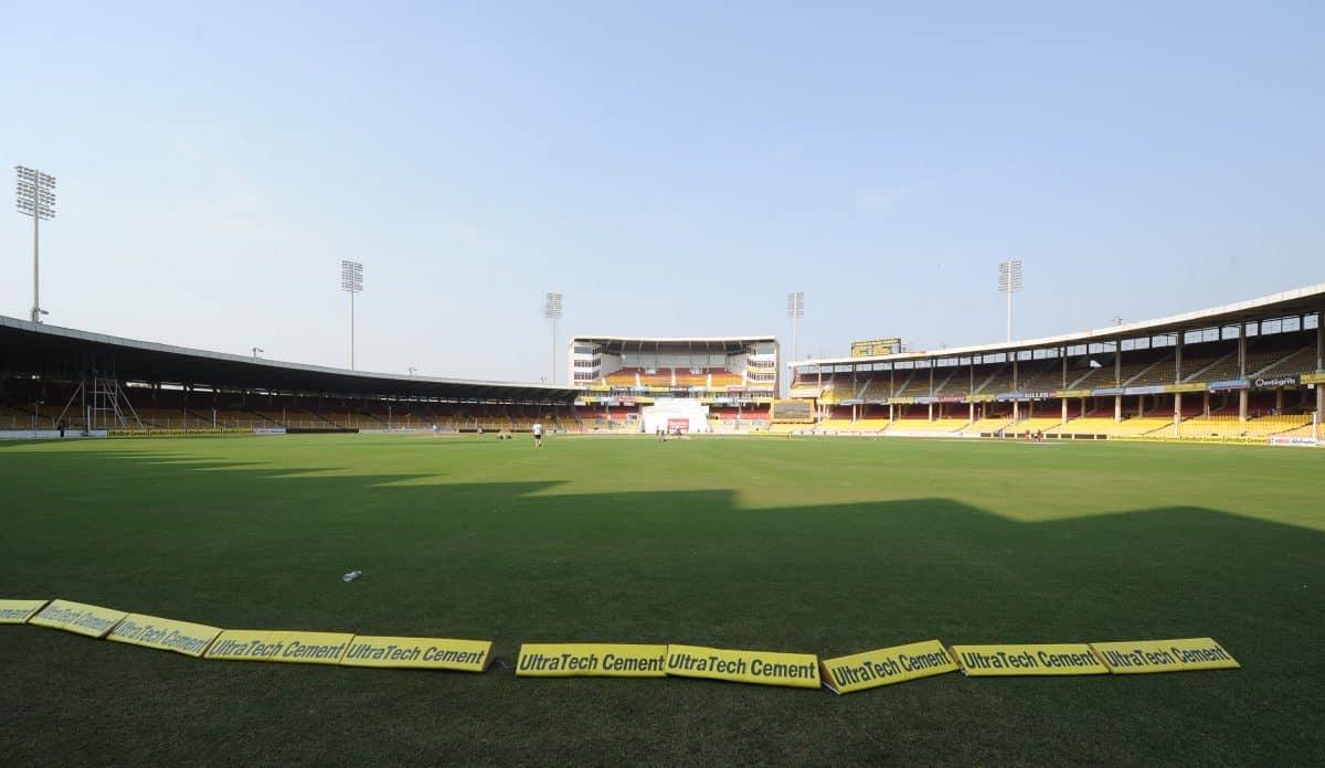 General view of the Sardar Patel Stadium, Ahmedabad, India