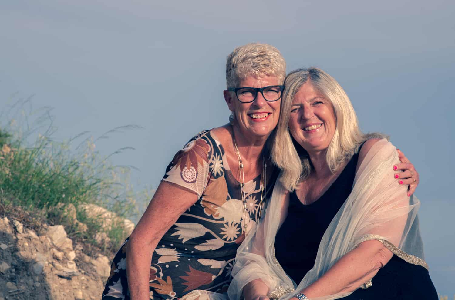 Left to right: Sue Wilson and Debbie Williams, who live in Spain.