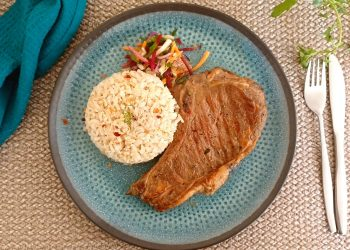 Club Steak Marinated in Thyme and Paprika