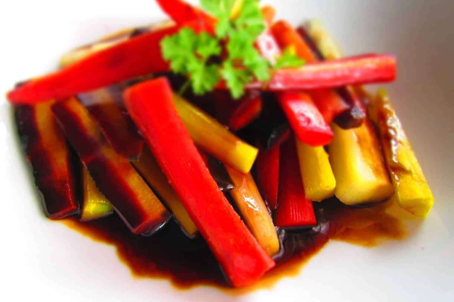 Rainbow Carrots with Balsamic Reduction