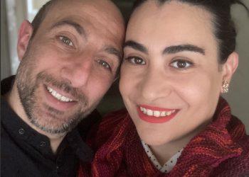 Nicoletta Peddis and her partner, Cristian Vinci. Photo: Supplied by Nicoletta Peddis.