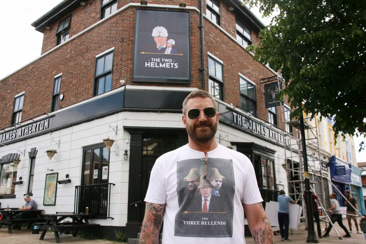 Daniel Davis, CEO of Rockport Leisure, in front of The Two Helmets pub. Photo credit: Activate Digital.