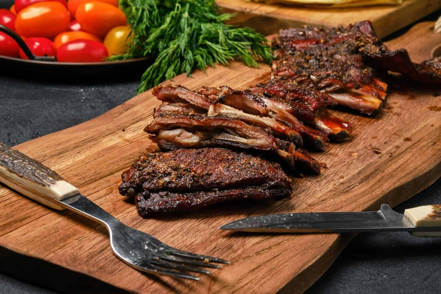 Sweet and Sticky Grilled Lamb Ribs